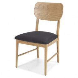 Scandi oak dining chair